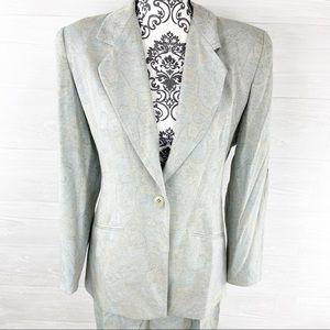 Burberry Paisley Brocade Blazer Jacket